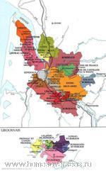 Карта винных регионов Бордо